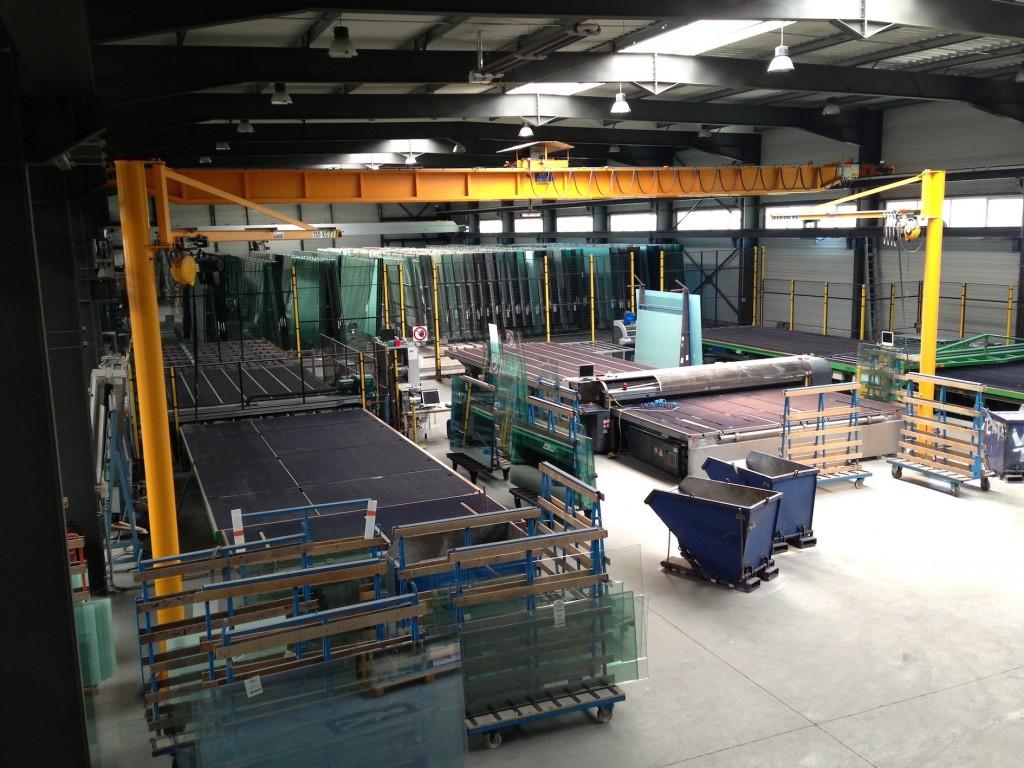 atelier coupe, pont de dépilage automatique EUROVITRAGE